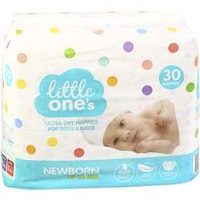 Little One's Ultra Dry Nappies for Boys and Girls Newborn