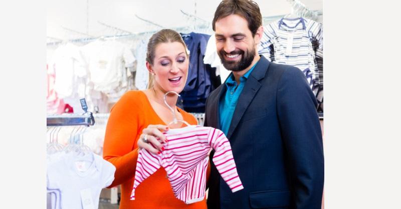 pregnant partner shopping