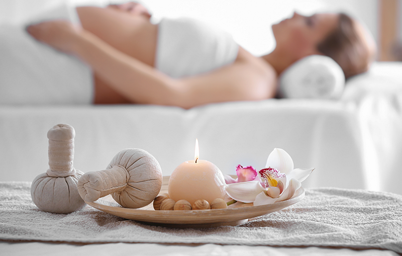 pregnant spa candle